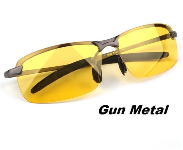 Sunglasses - Night Vision Goggles Anti-glare Silver Alloy Frame glasses