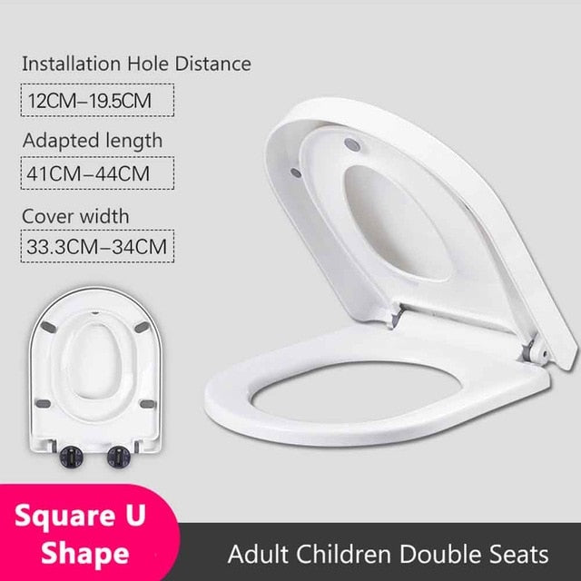 Toilet seat - Double Layer Child Adult Toilet Seat Child Potty Training