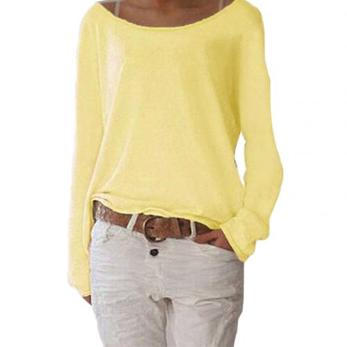 Top - Solid Color Comfortable Casual Round Neck