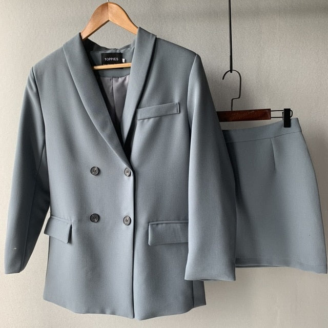 Blazer - Womens blazer two piece suit set