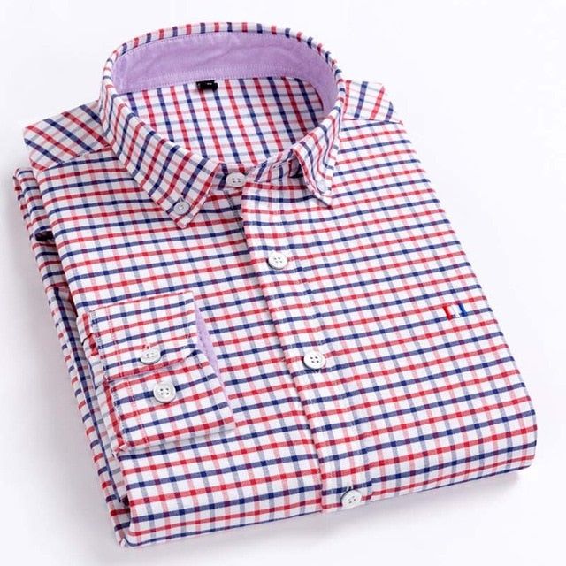 Shirt - Casual Pure Cotton Oxford Mens Shirts  Regular Fit