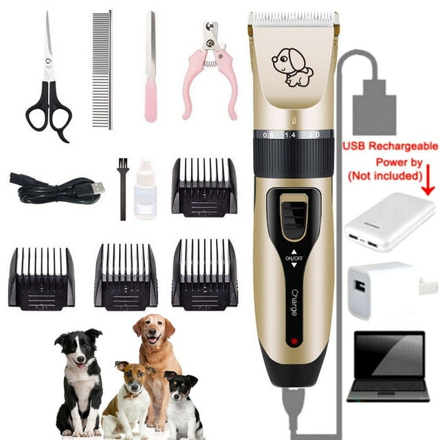 Cat Hair Trimmer - Rechargeable Low-noise Cat  Hair Trimmer