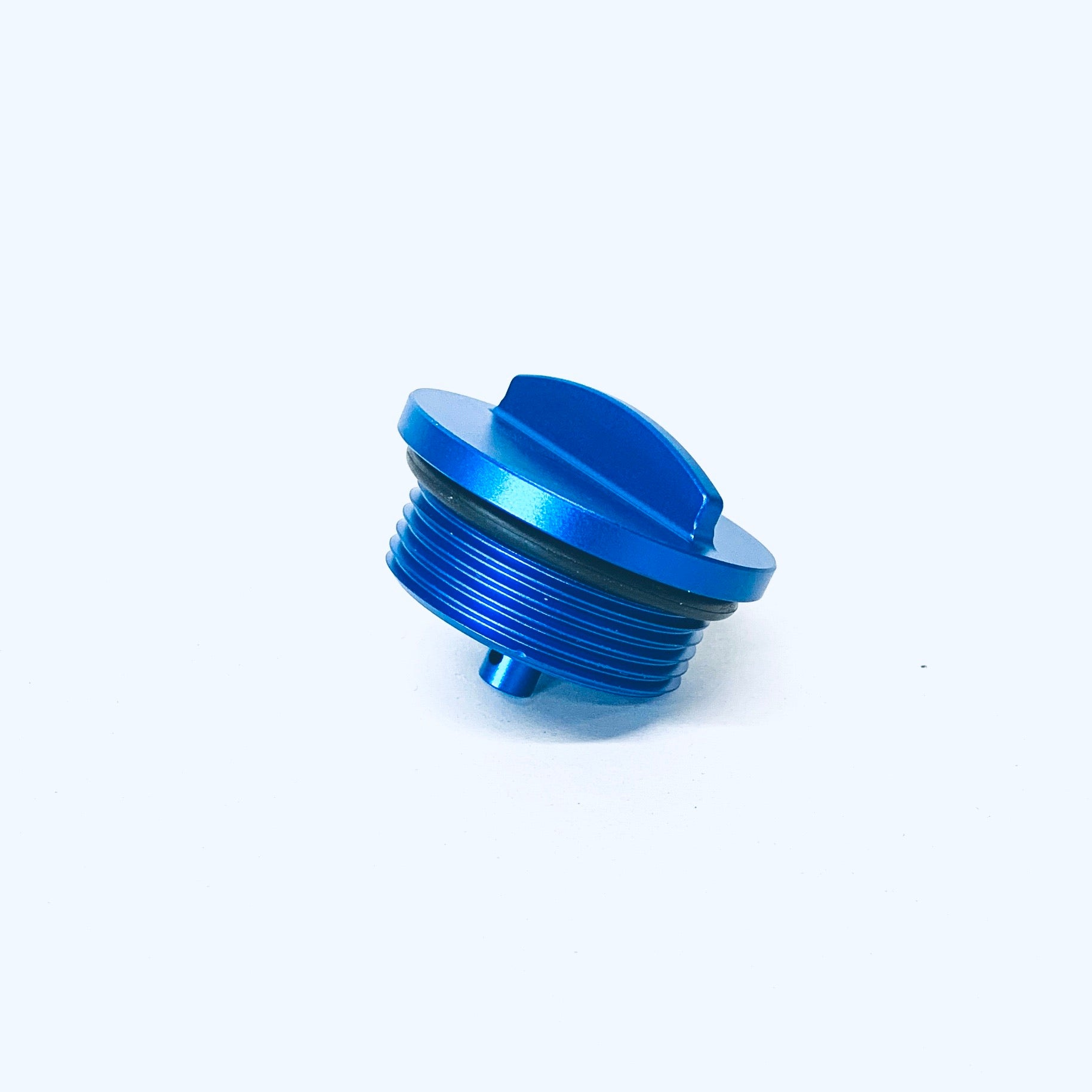 BLUE ANODIZED WINDSHIELD WASHER FILL COVER