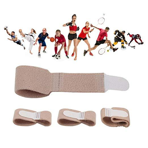 Toe Straightener Brace Splint Wrap- 4 pack