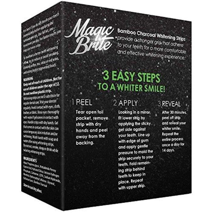 MagicBrite Teeth Whitening Bamboo Activated Charcoal Strips