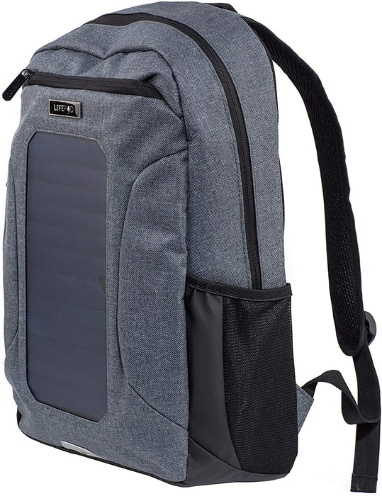 LifePod Backpack with Solar Panel and USB Port to Power All your Device-silver