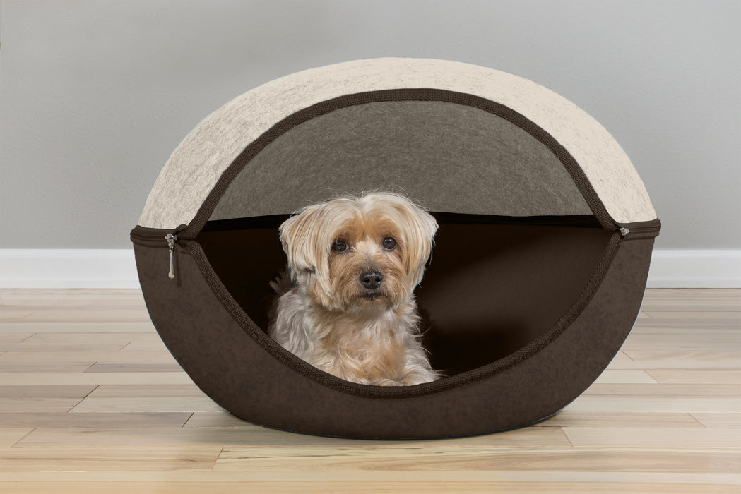 FurHaven Oval Felt Cubby With Paw Cut-Out