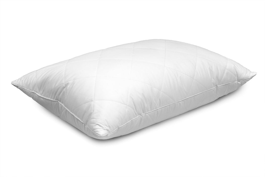 Stockholm Quilted Cover White Goose Feather & Down Pillow