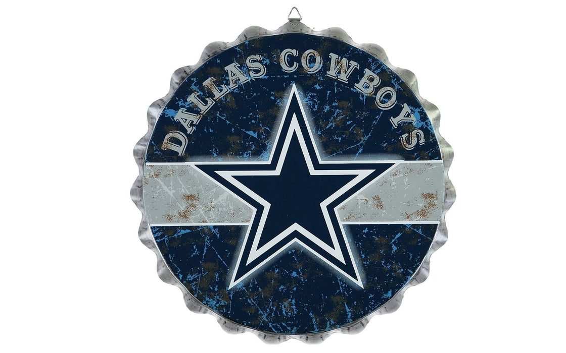NFL Distressed Bottlecap Wall Sign