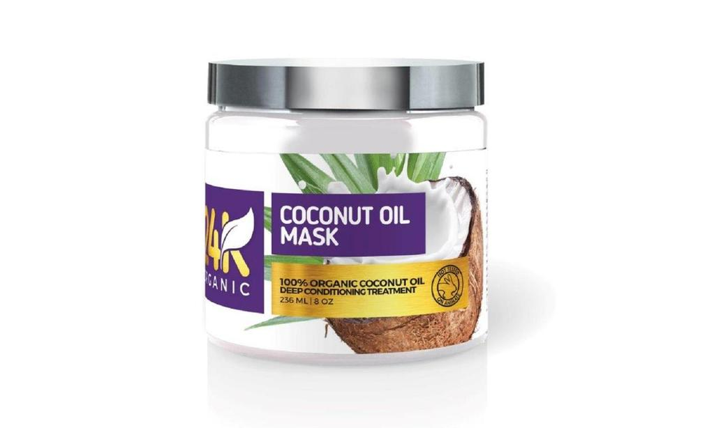 24K Organic Deep Conditioning and Hydrating Coconut Oil Hair Mask