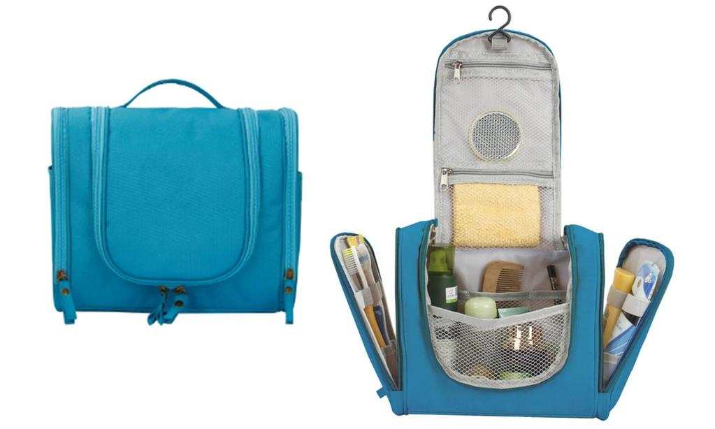 Waterproof Hanging Travel Makeup Toiletry Bag and Organizer