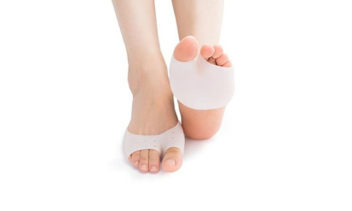 Pain Relief Foot Cushions and Metatarsal Pads with EuroNatural Gel (2-Pack)