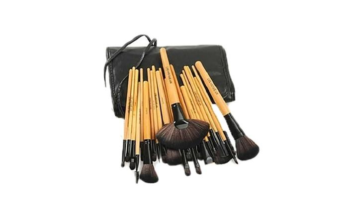 Professional Makeup Brush Set with Travel Case (24-Piece)