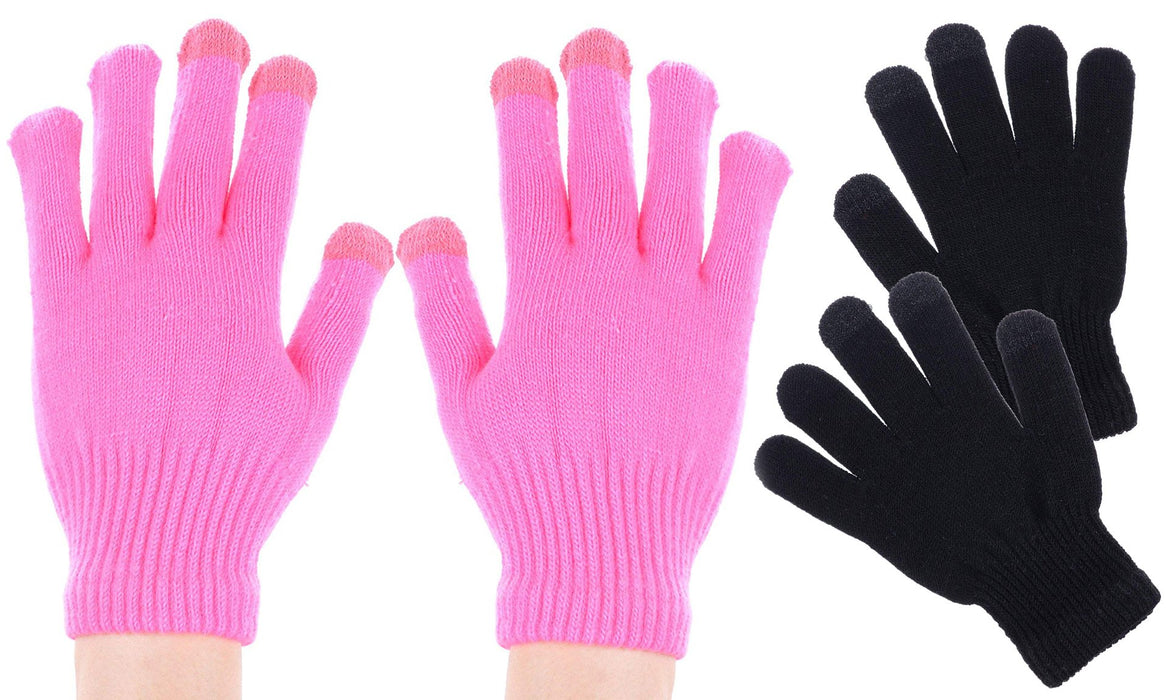 2 Pack Touchscreen One Size Fits Most Gloves