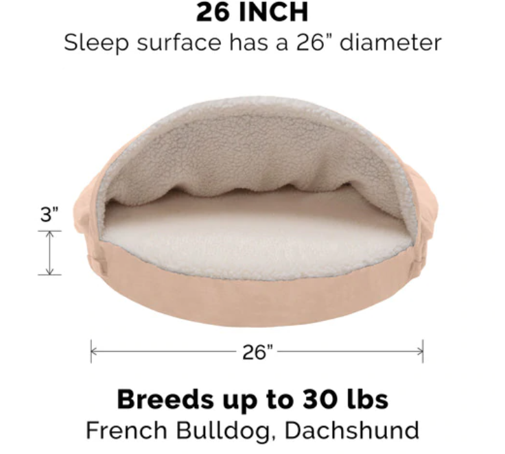 FurHaven Faux Sheepskin Snuggery Orthopedic Pet Beds