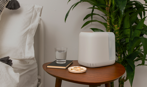Canopy Humidifier on Bedside Table