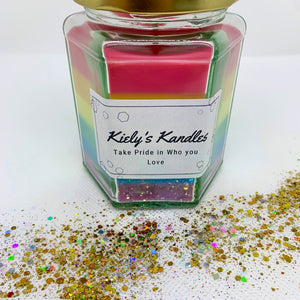 Kielys Kandles Take Pride in Who You Love Candle - The Bearded Gypsy Vintage Co.
