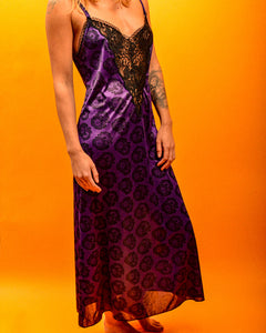 Purple Lace Night Dress - The Bearded Gypsy Vintage Co.