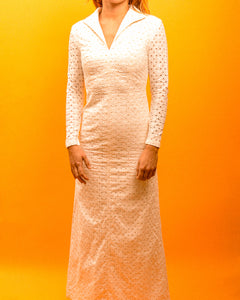 True 60's Mod Wedding Dress - The Bearded Gypsy Vintage Co.