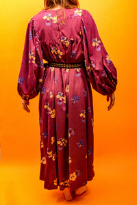 70's Bell Sleeve Maxi Dress - The Bearded Gypsy Vintage Co.
