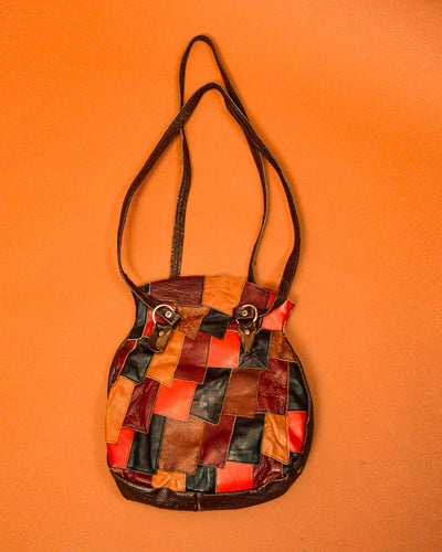 Leather Patchwork Bag - The Bearded Gypsy Vintage Co.