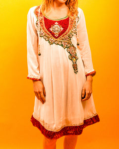 Indian Embellished Dress - The Bearded Gypsy Vintage Co.