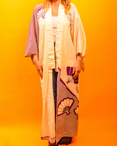 Violette Fan Kimono - The Bearded Gypsy Vintage Co.