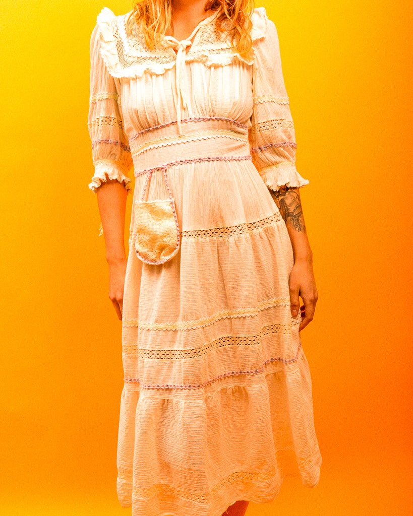 Great Falls Prairie Villager Dress - The Bearded Gypsy Vintage Co.