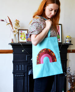 Jemma Leigh Conway Handmade Rainbow Tote Bag - The Bearded Gypsy Vintage Co.