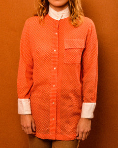 Josette Coral Shirt - The Bearded Gypsy Vintage Co.