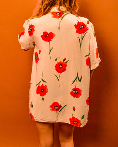 Poppy Field Shirt - The Bearded Gypsy Vintage Co.