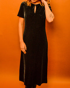 Black Velvet Witch Dress - The Bearded Gypsy Vintage Co.