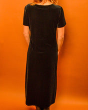 Load image into Gallery viewer, Black Velvet Witch Dress - The Bearded Gypsy Vintage Co.
