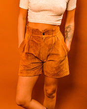Load image into Gallery viewer, Suede High Waist Shorts - The Bearded Gypsy Vintage Co.