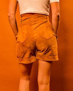 Suede High Waist Shorts - The Bearded Gypsy Vintage Co.