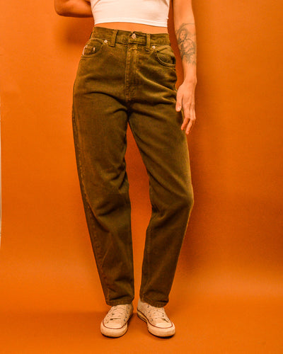 High Waist Khaki Jeans - The Bearded Gypsy Vintage Co.