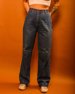 Stay High Wide Leg Jeans - The Bearded Gypsy Vintage Co.