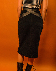 Hells Angels Vegan Leather Skirt - The Bearded Gypsy Vintage Co.