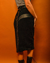 Load image into Gallery viewer, Hells Angels Vegan Leather Skirt - The Bearded Gypsy Vintage Co.
