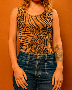 Wild Thing Lepoard Print Top - The Bearded Gypsy Vintage Co.