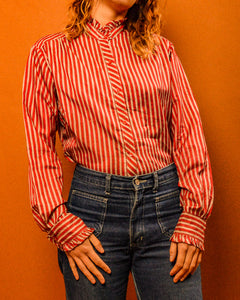 Silk Carnival Stripe Shirt - The Bearded Gypsy Vintage Co.