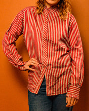 Load image into Gallery viewer, Silk Carnival Stripe Shirt - The Bearded Gypsy Vintage Co.