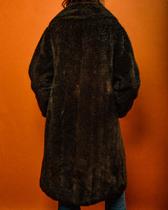Vintage Faux Fur Coat - The Bearded Gypsy Vintage Co.