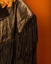 Load image into Gallery viewer, Hillbilly Suede Tassle Jacket - The Bearded Gypsy Vintage Co.