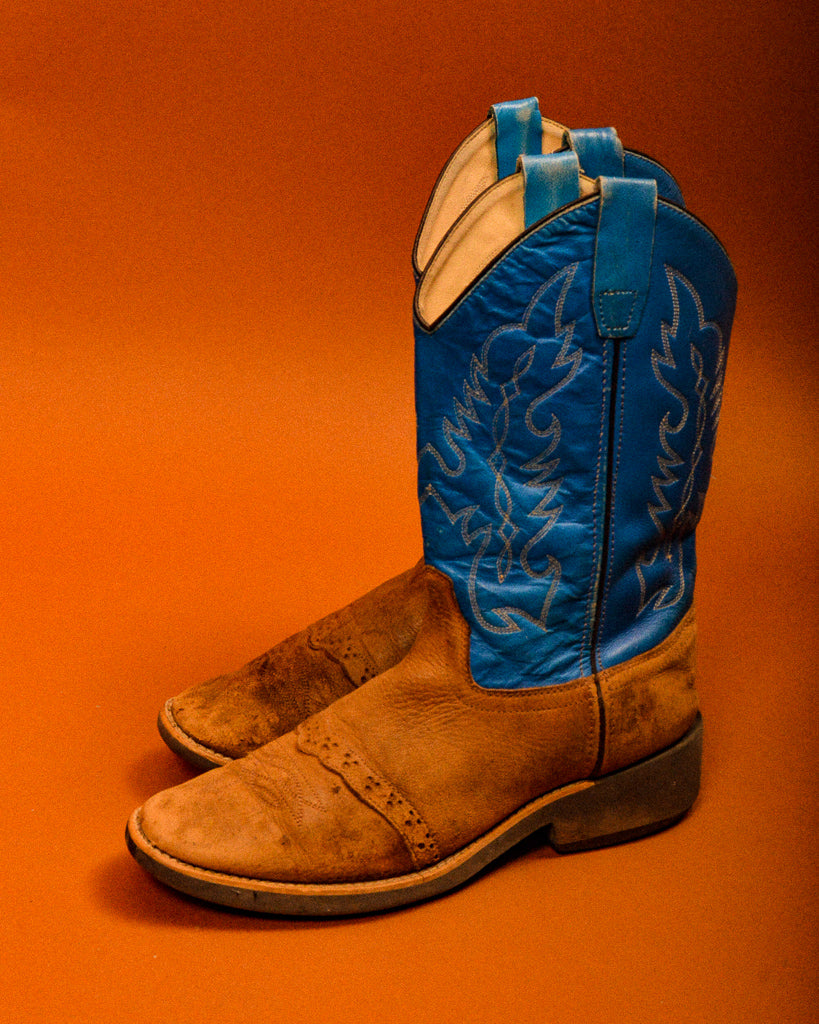 Vintage Turquoise Cowboy Boots - The Bearded Gypsy Vintage Co.