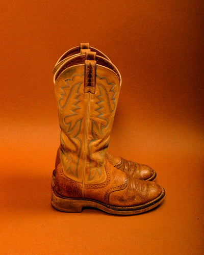 Vintage Cowboy Work Boots - The Bearded Gypsy Vintage Co.