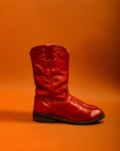 Dolly Red Vintage Cowboy Boots - The Bearded Gypsy Vintage Co.