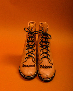 Deadstock vintage leather ropers - The Bearded Gypsy Vintage Co.