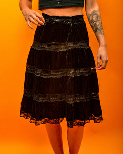 Gypsy Velvet Skirt - The Bearded Gypsy Vintage Co.