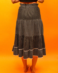 Polka dot Senorita Skirt - The Bearded Gypsy Vintage Co.